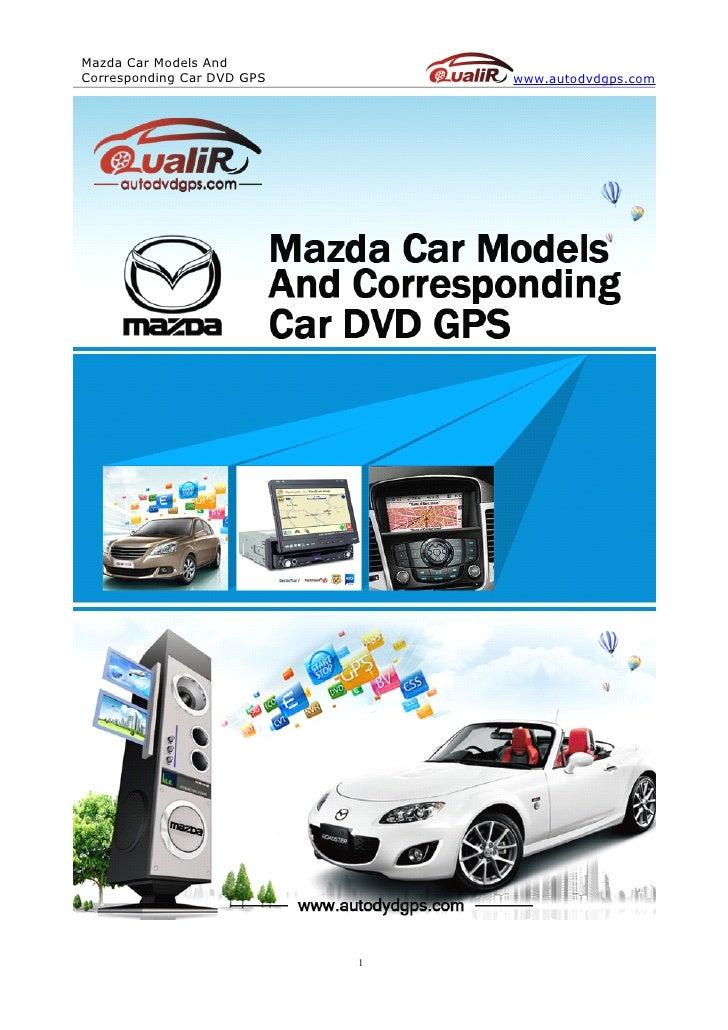 Mazda car models and corresponding car dvd gps