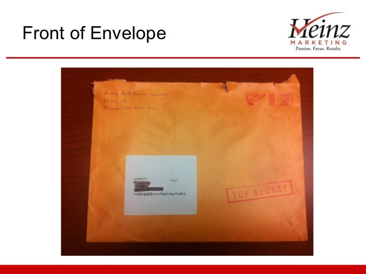 Front of Envelope