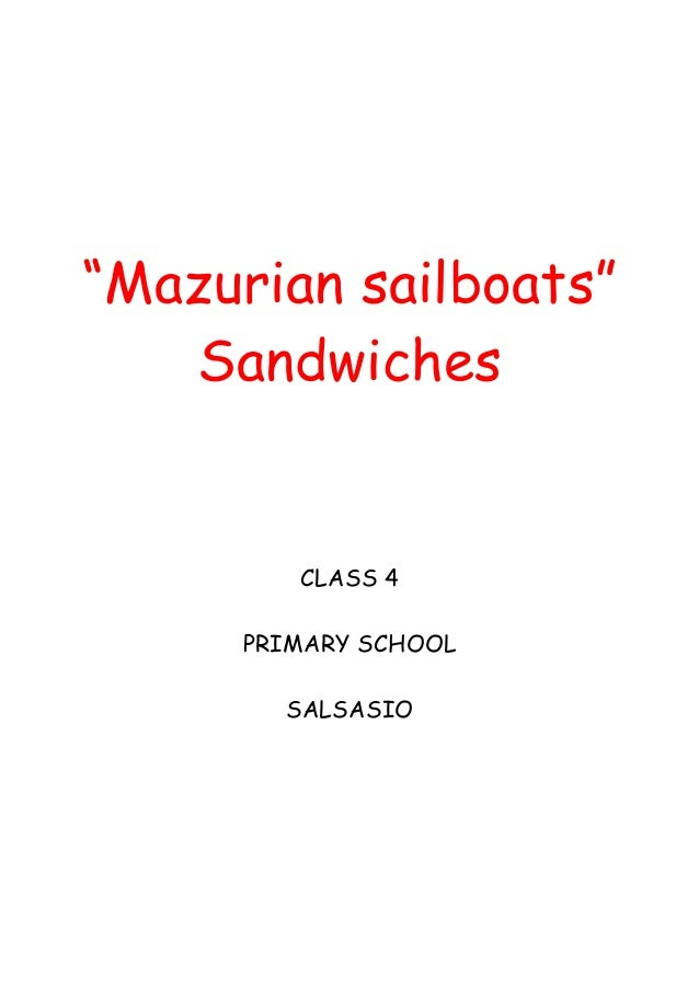 Mazurian sailboats   sandwiches 2