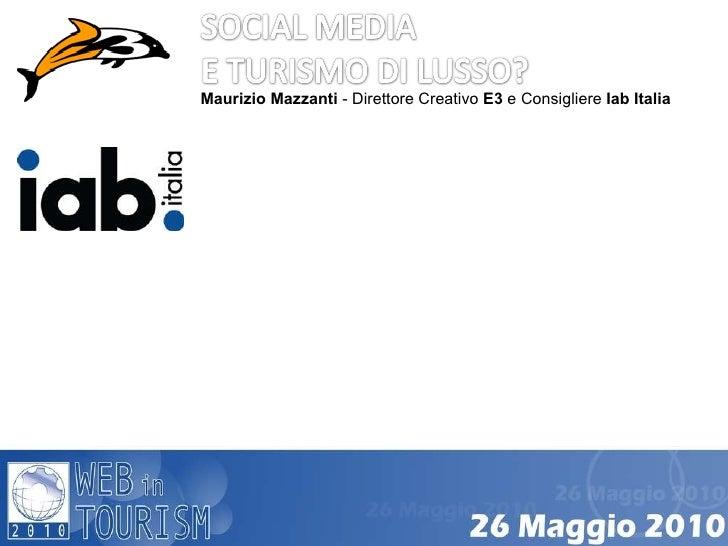 Maurizio Mazzanti - Direttore Creativo E3  e Consigliere Iab Italia