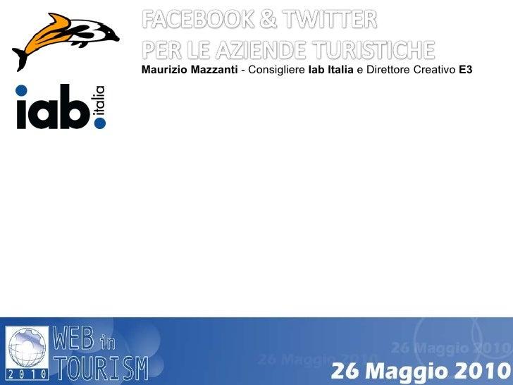 Maurizio Mazzanti - Consigliere Iab Italia e Direttore Creativo E3