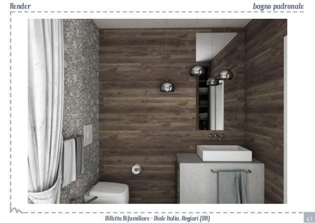 Bagno con rivestimenti in mosaico progetto a tre livelli