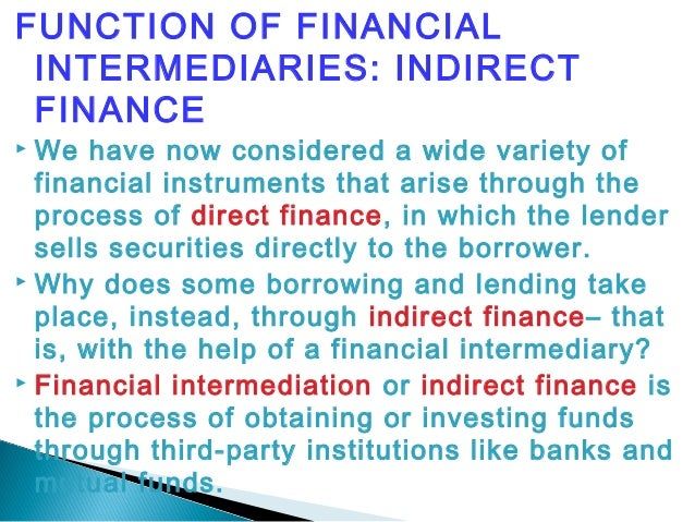 the concept of financial intermediation essay