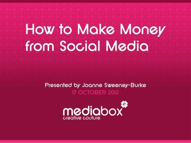 how to make money on social media pdf