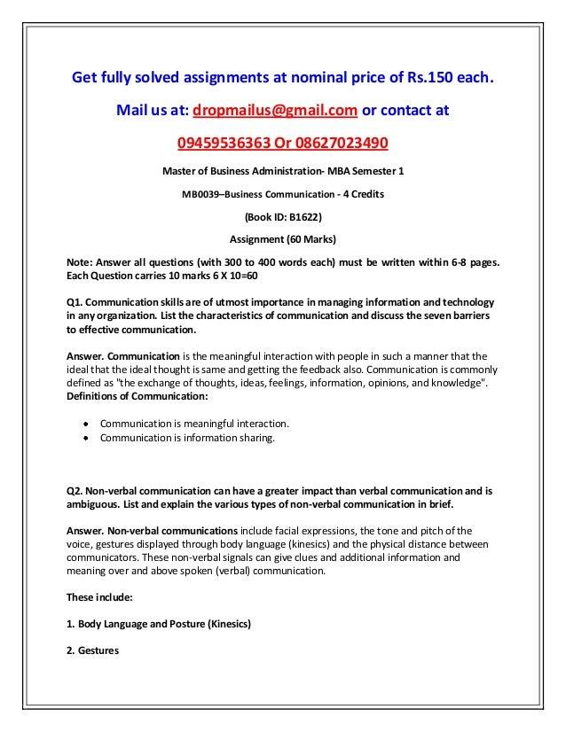 mb0039 business communication mba smu