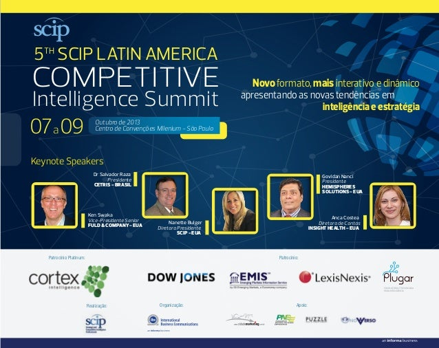 SCIP LATIN AMERICA COMPETITIVE INTELLIGENCE SUMMIT