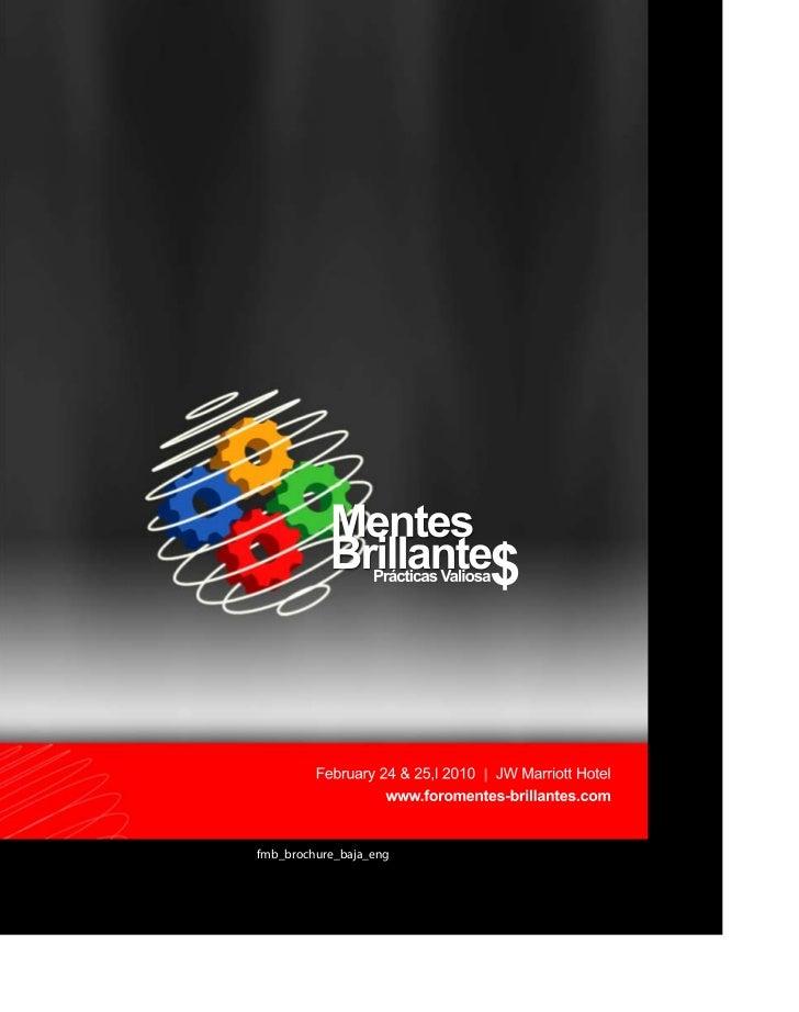 Mentes Brillantes Event English Brochure