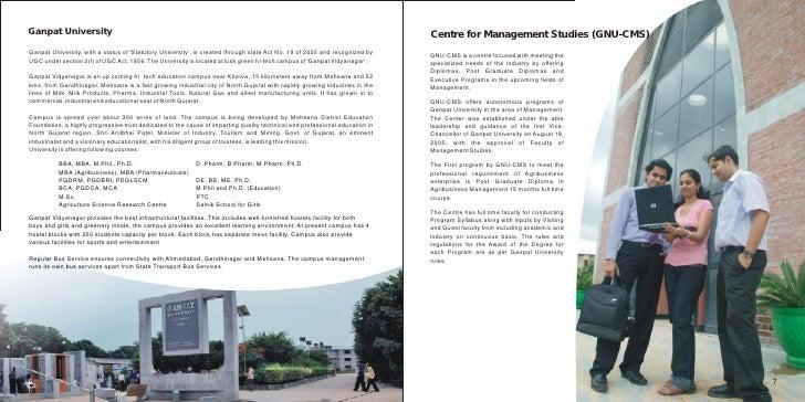 Ganpat University Gate Ganpat University Centre For
