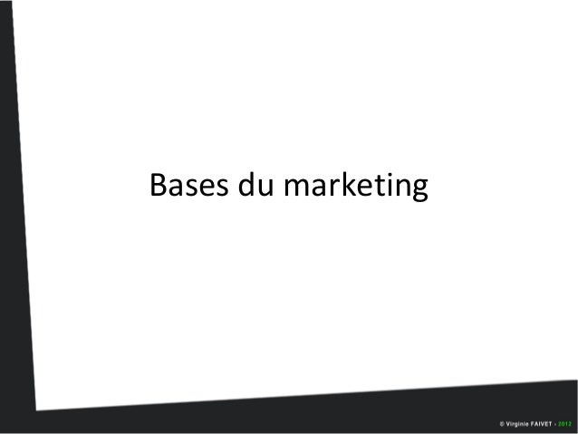 Bases du marketing