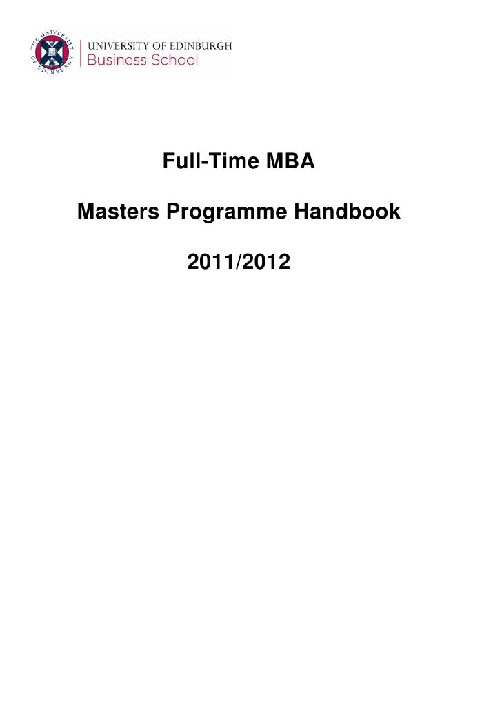 Mba full-time-handbook-2011-12