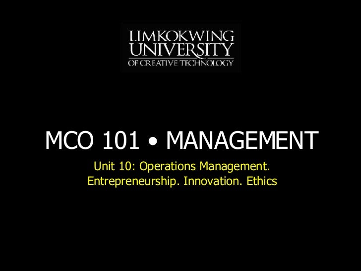 MBA MCO101 Unit 10 Lecture 11 200806 Xx