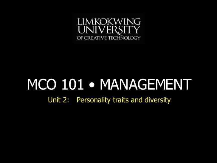 MBA MCO101 Unit 2 Lecture 3 20080622