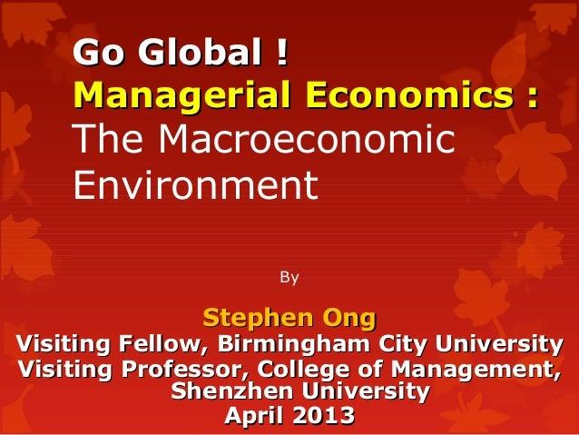 Mba1014 macro economic environment 200413