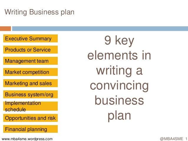 Mba4sme Writing business plan