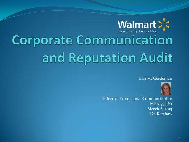 Mba 595.n.1 corporate communication and reputation audit  l gerdeman