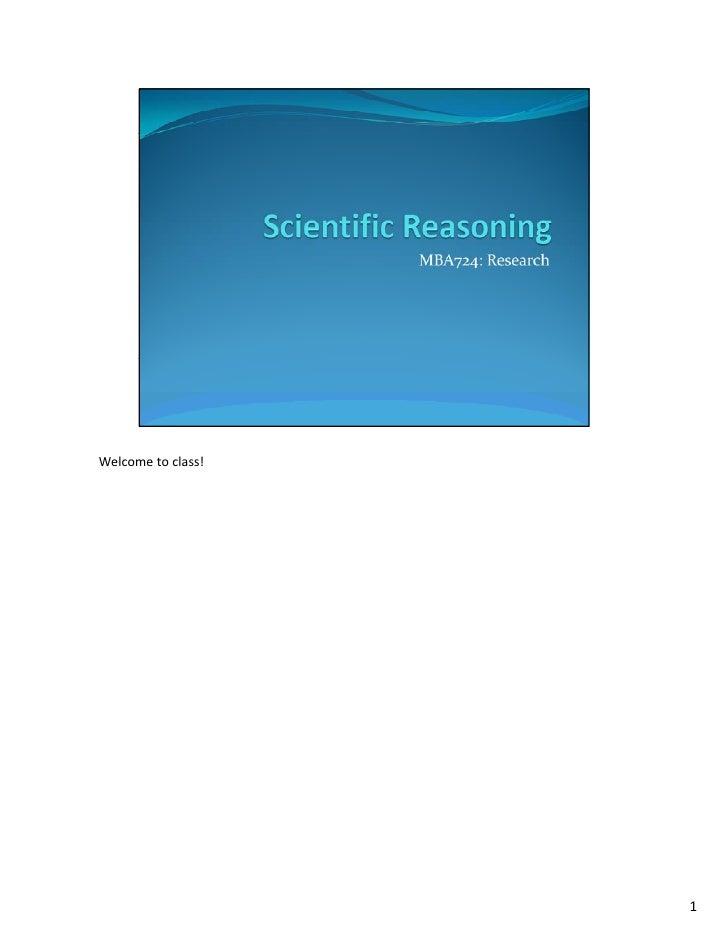 Mba724 s2 w1 scientific reasoning