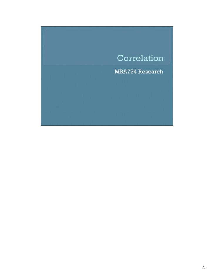 Mba724 s4 2 correlation