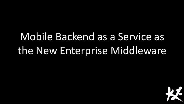 M baa s as the new enterprise middleware