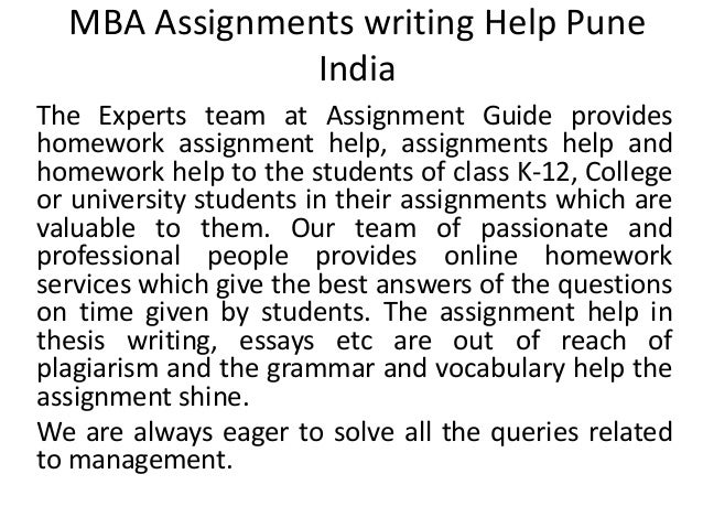 ... the Best MBA Assignment Help Services in Australia MBA Assignment Help