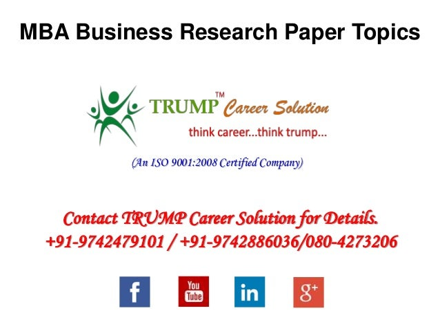 business paper research Research paper: identifying key concepts in business and management introduction key concepts in business are important for the growth of any entity this is.