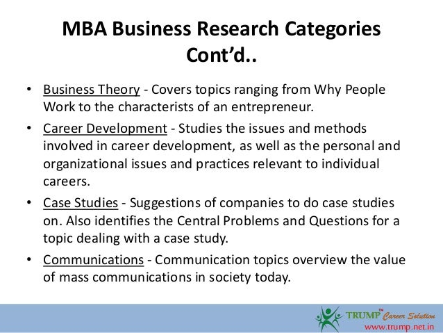 Business Related Research Paper Topics