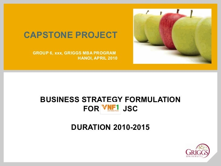 mba capstone project Mba capstone project submission form this submission form must duly be completed and attached to each set of your capstone project projects with.