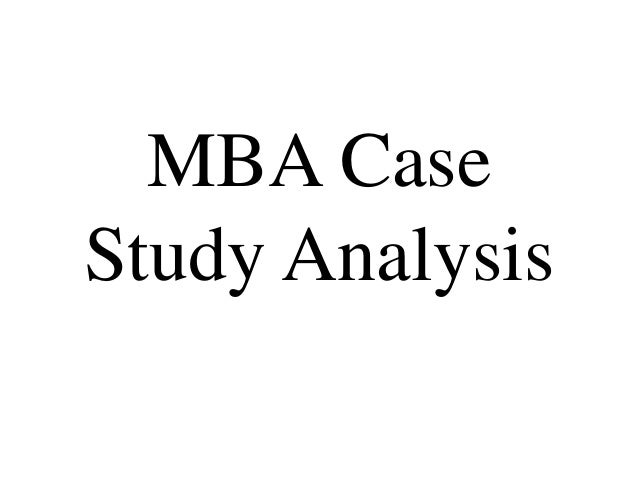 Case study mba programs
