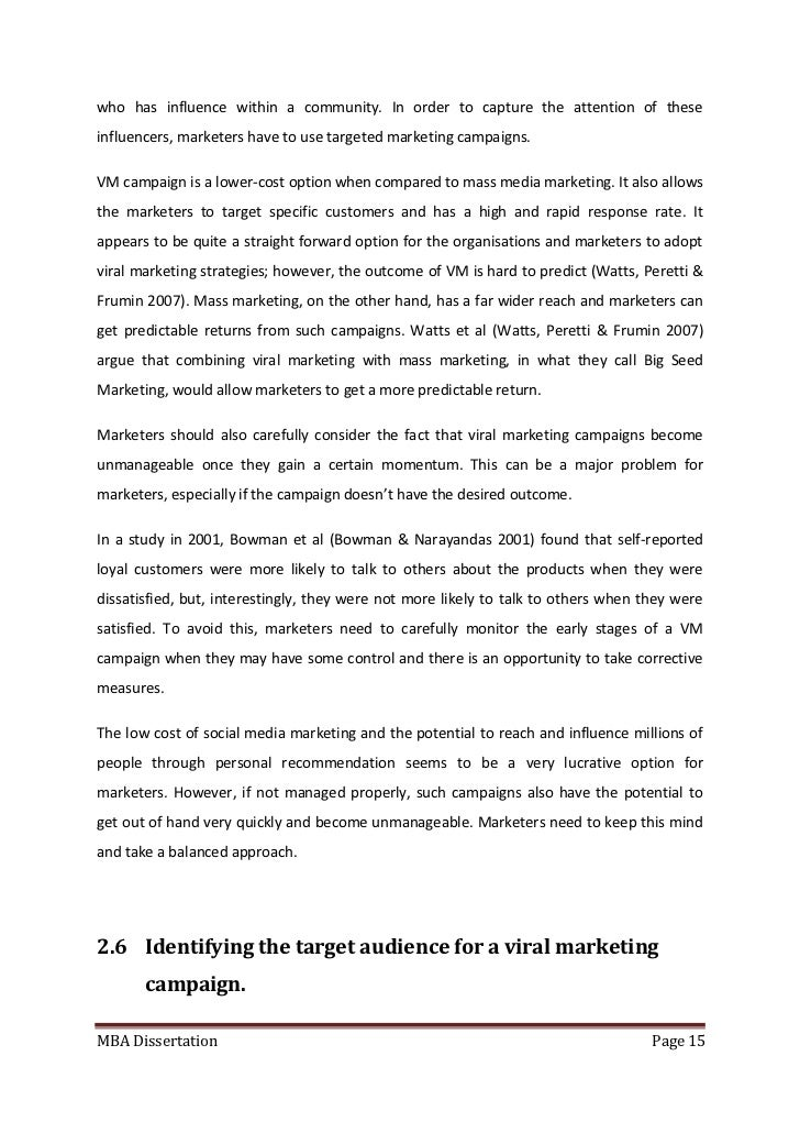 Marketing Dissertation Pdf