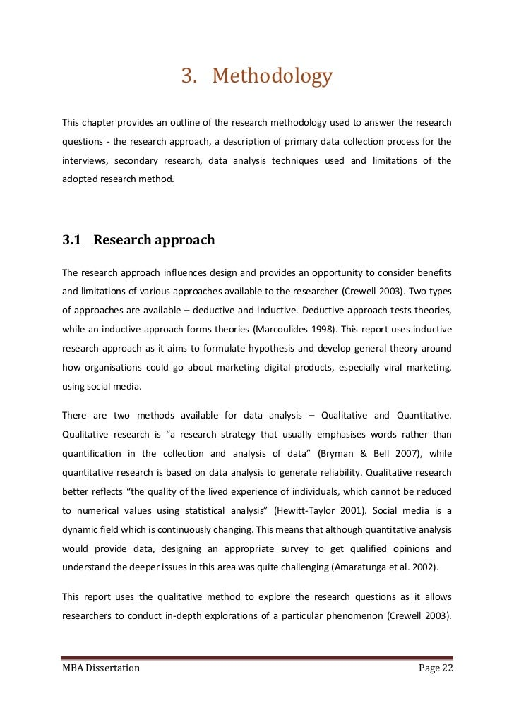 Secondary research dissertation methodology
