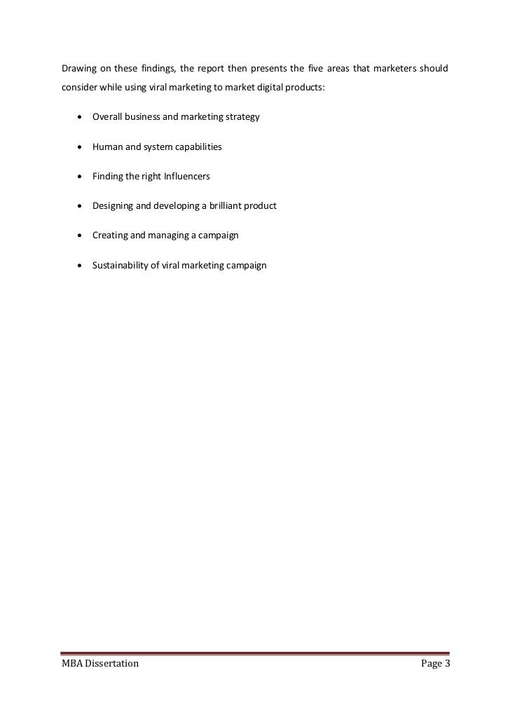 dissertation report on marketing