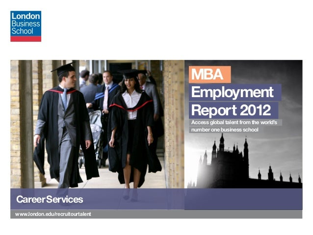 MBA                                  Employment                                  Report 2012                              ...