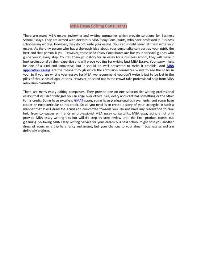 Emba essay examples