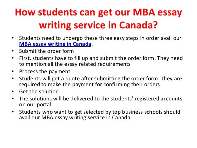 Mba essay writing service websites