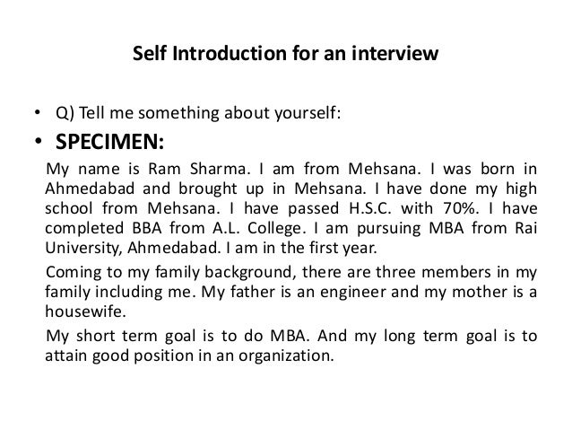 examples of self reflection essay