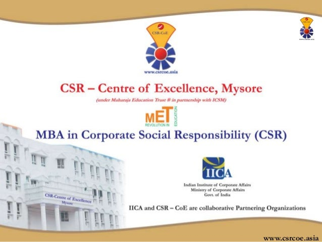 MBA in Corporate Social Responsibility