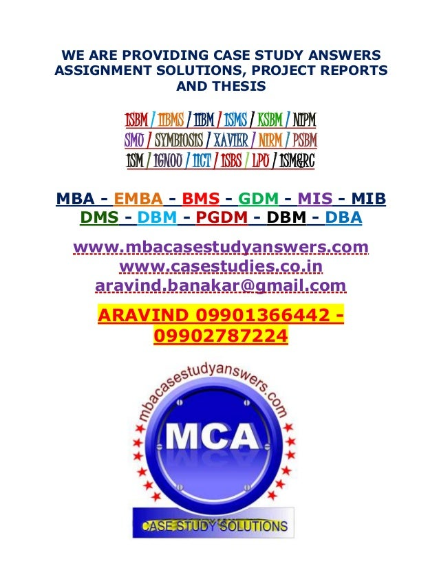 mba case studies with solutions