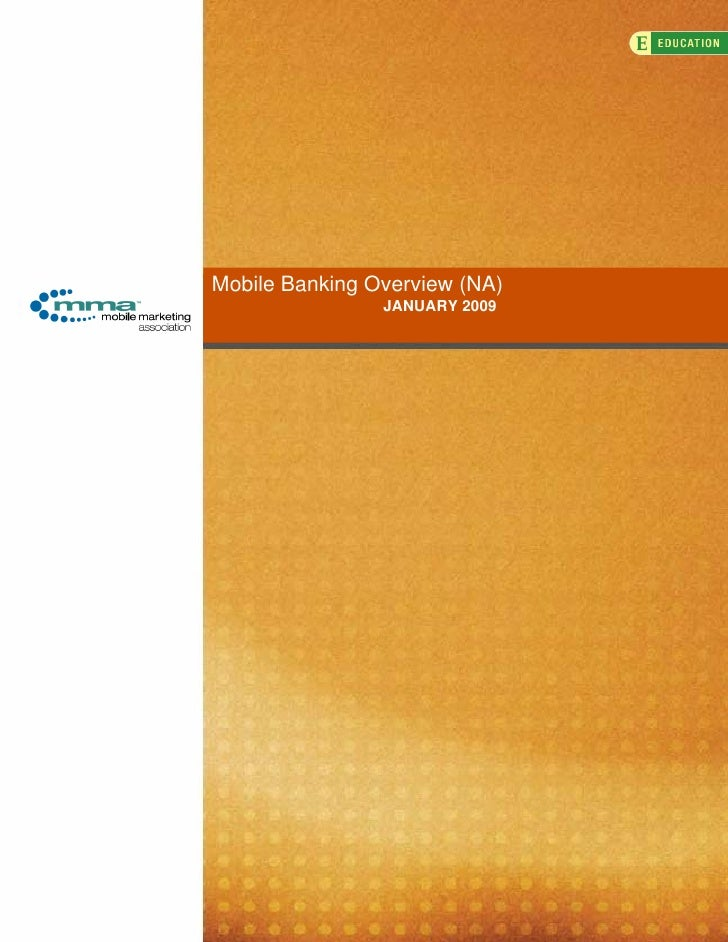 Mobile Banking Overview (NA)                 JANUARY 2009
