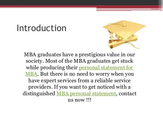 personal statement for mba