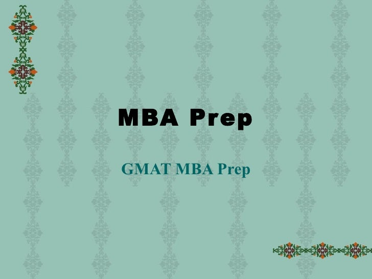 MBA Application Prep