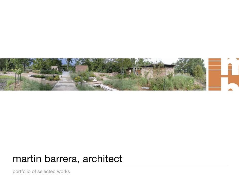 martin barrera, architect portfolio of selected works
