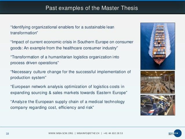 Master thesis themen scm