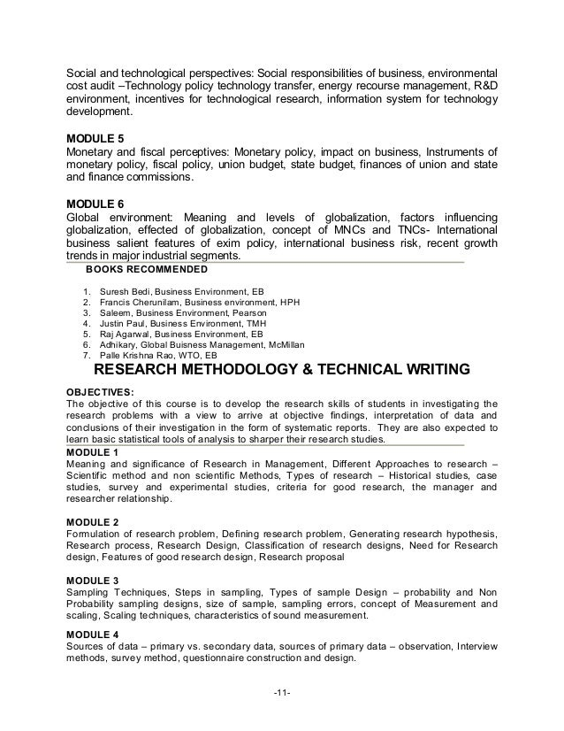 Mba research paper syllabus