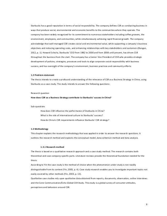 social responsibility thesis