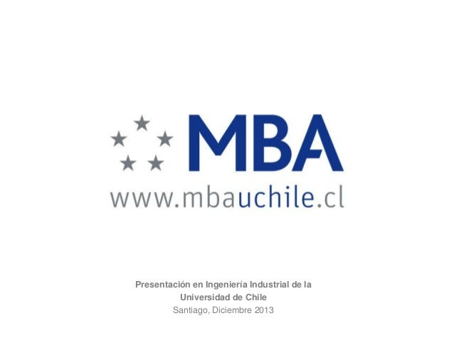Mba universidad de chile   2013 - martin meister