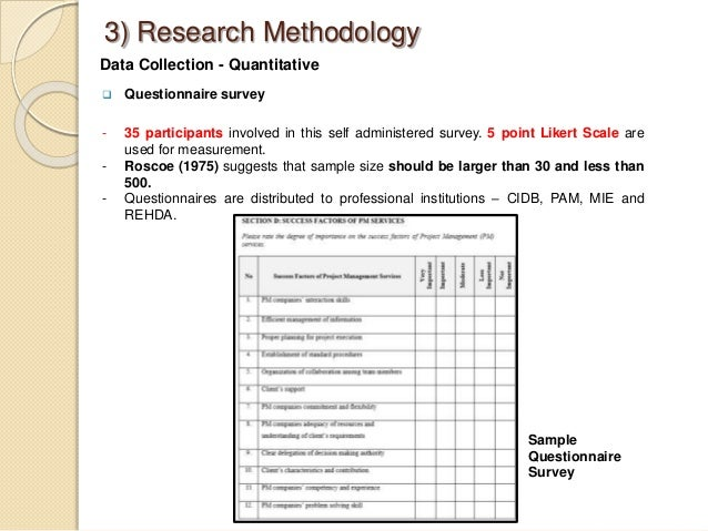 Dissertation Methodology Questionnaire Design