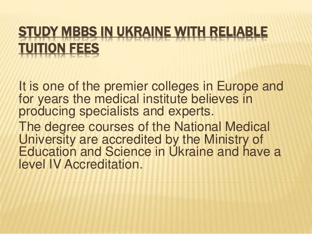 MBBS in Ukraine | Fees Structure For MBBS in Ukraine ...