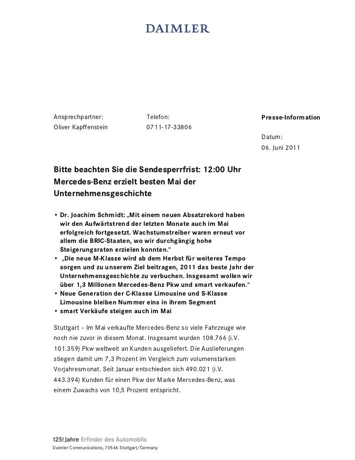 Ansprechpartner:                          Telefon:                  Presse-InformationOliver Kapffenstein                 ...