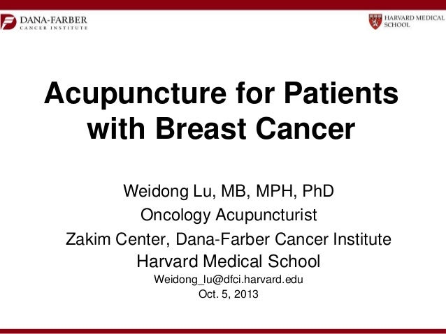 Acupuncture for Breast Cancer Patients