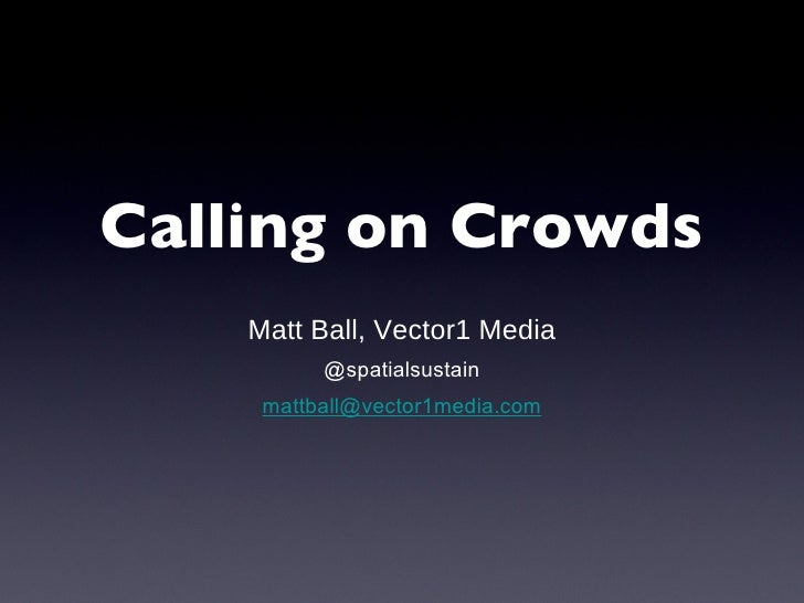 GeoInt Crowdsourcing Presentation