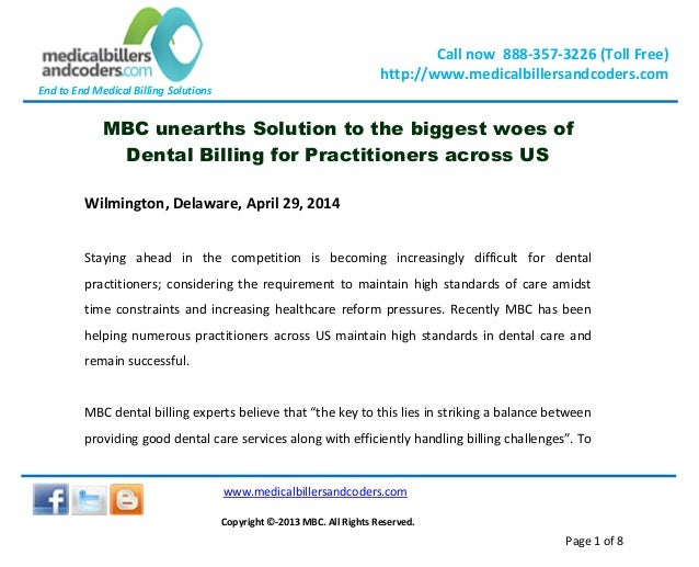 Mbc unearths solution to the biggest woes of dental billing for practitioners across us